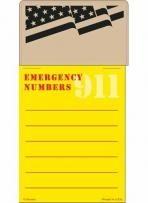 Press-N-Stick - Emergency Number List