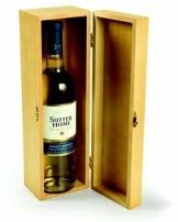 Natural Wood Single Bottle Wine Chest