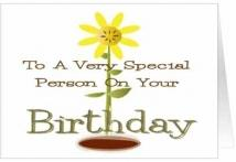 Birthday Special Person