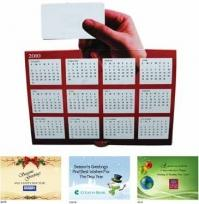Hand Tent Calendar Greeting Card