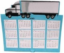 Truck Tent Calendar Greeting Card