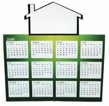 House Tent Calendar Greeting Card