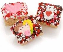 Romantic Chocolate Dipped Mini Krispies�Individually Wrapped