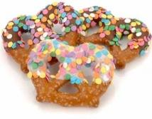 Confetti Chocolate Pretzel Twists