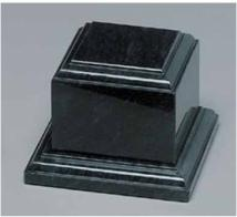 Black Marble Tiered Base 3""