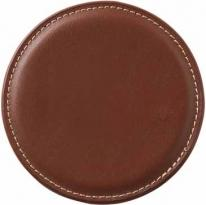 Accent Round Leather Coaster