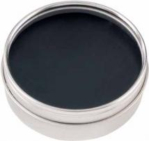 Bonded Leather Coaster Set in Clear-view Tin