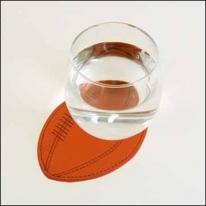 Football Coaster - Synthetic Leather