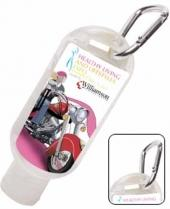 Hand Sanitizer 1.8 oz Squeeze Bottle/Carabiner Attachment