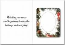 Greeting Card With Magnetic Photo Frame - 12P Thickness