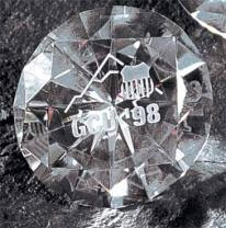 "2"" Diamond Crystal Paperweight"
