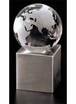 Petite Crystal Globe (On Tall Base)