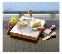 Fontina Bamboo Cheese Board
