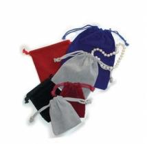 "Drawstring Velveteen Jewelry Pouch (6""x9"")"