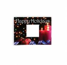 Safe/Ad Happy Holidays Greeting Card - Candles