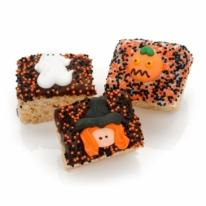 Halloween Chocolate Dipped Mini Krispies