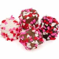 Heart Sprinkles Hand-Dipped Marshmallows- Individual Puffs