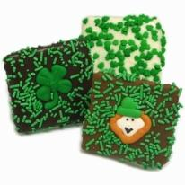 St. Patrick's Day Belgian Chocolate Grahams