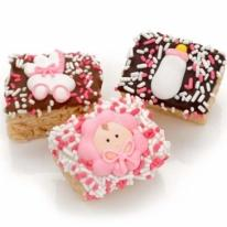 New Baby Girl Chocolate Dipped Mini Krispies�