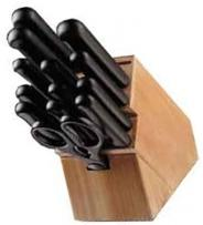 Chicago Cutlery 15 Piece Basic Knife Set - (Black Handles)