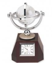 Rotating 2 3/4 Crystal Globe/Clock