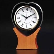 Heart Shaped Glass Alarm Clock