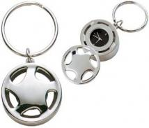 Metal Spinner Clock Key Chain