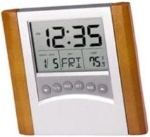 Desktop Calendar Alarm Clock With Thermometer