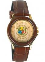 The Natural Rosewood & Gold Finish Quartz Watch