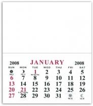 Add-A-Pad 12 Month Calendar - .020 Thickness