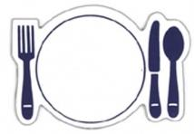 Dinner Place Setting Magnet - .020 Thickness