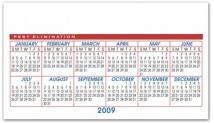 VagaBond Horizontal Calendar - .025 Thickness