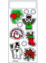 Christmas Stickers - White Gloss Paper - 3 1/4 X 7 Sheet
