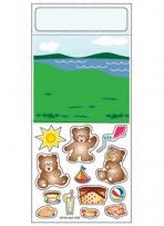 One Color Peel N Play Stickers - Bear Picnic