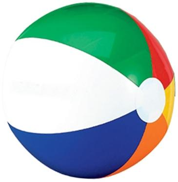 12-in. Six Color Beach Ball