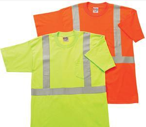 Adult Hi-Visibility Short Sleeve Pocket Tee