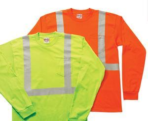 Adult Hi-Visibility Long Sleeve Pocket Tee