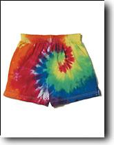 Rainbow Swirl Tie-Dye Athletic Shorts