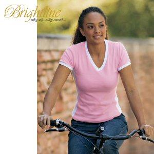 Ladies' Contract Side Panel V-Neck Tee