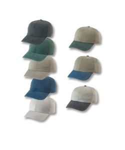 Stone Washed Cotton Twill Six Panel Cap