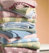 Crib Clouds Chunky Chenille Scalloped Edge Baby Blanket