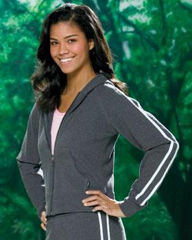 LADIES Stretch French Terry Fitted Hoodie