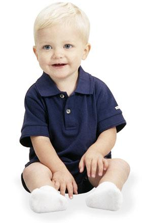 Infant Pique Polo Creeper