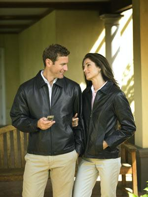Men's Lambskin Open Bottom Jacket