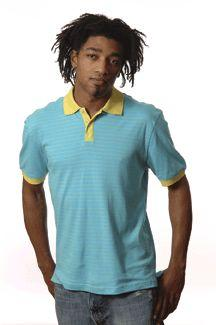 Men's Interlock Contrast Stripe Short-Sleeve Sport Shirt