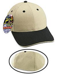Brushed Cotton Twill Sandwich Visor Otto Flex Low Profile Pro Style Caps(LXL)