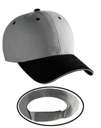 Brushed Canvas Cotton Twill Sandwich Visor Low Profile Pro Style Caps