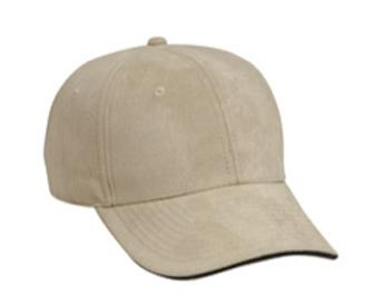 Polyester Microfiber Suede Sandwich Visor Low Profile Pro Style Caps