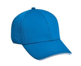 Cool Comfort Polyester Cool Mesh Sandwich Visor 6 Panel Low Profile Baseball Cap