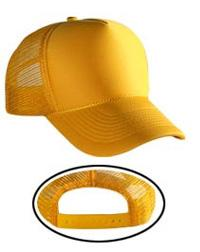 Polyester Foam Front Five Panel Mid-Profile Mesh Back Caps